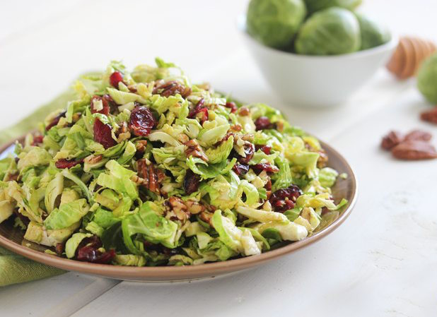 Brussels sprouts honey mustard slaw