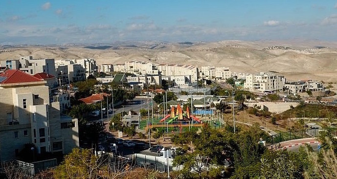 View of Ma'ale Adumin in Judea and Samaria on Jan. 1, 2017.