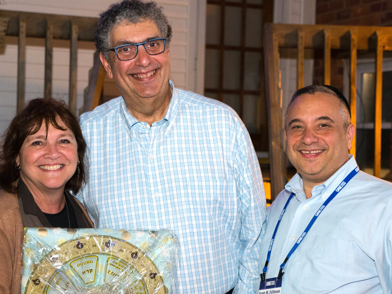 Hosts Sharon and Alan Shulman with Scott Feltman of the One Israel Fund.