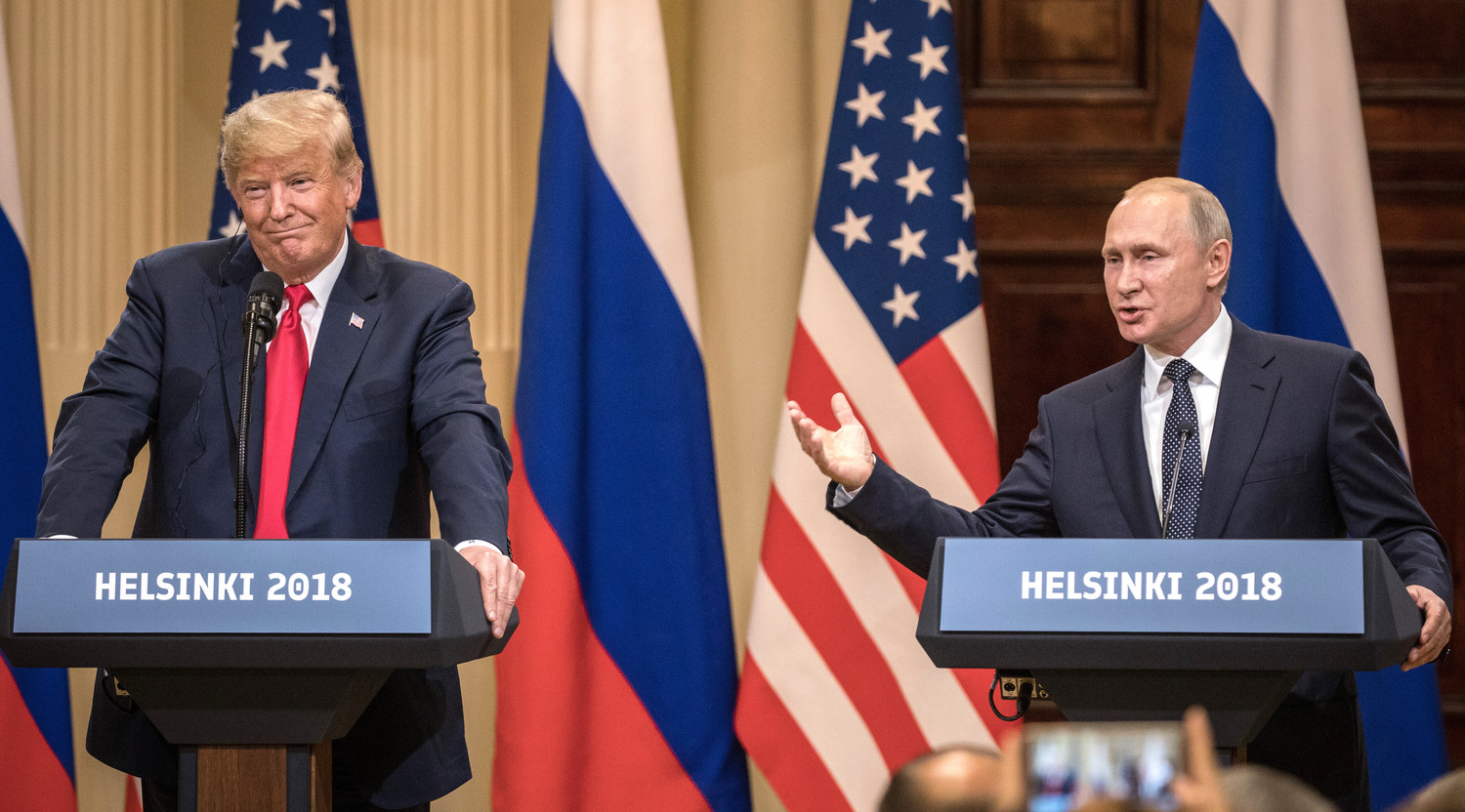 President Donald Trump and President Vladimir Putin of the Russian Federation on Monday.