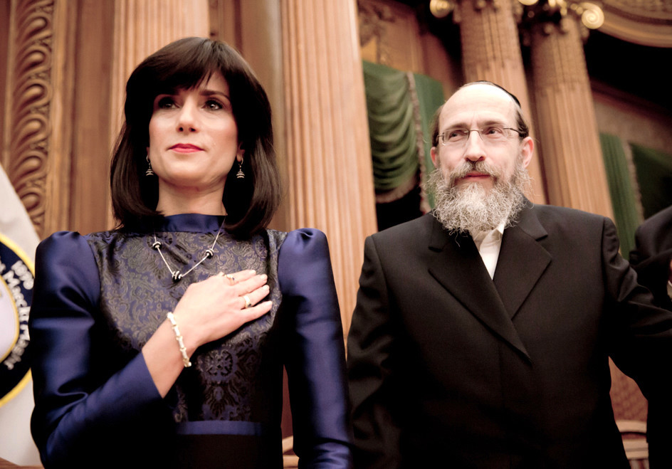 Rachel Freier shown in the film with her husband.