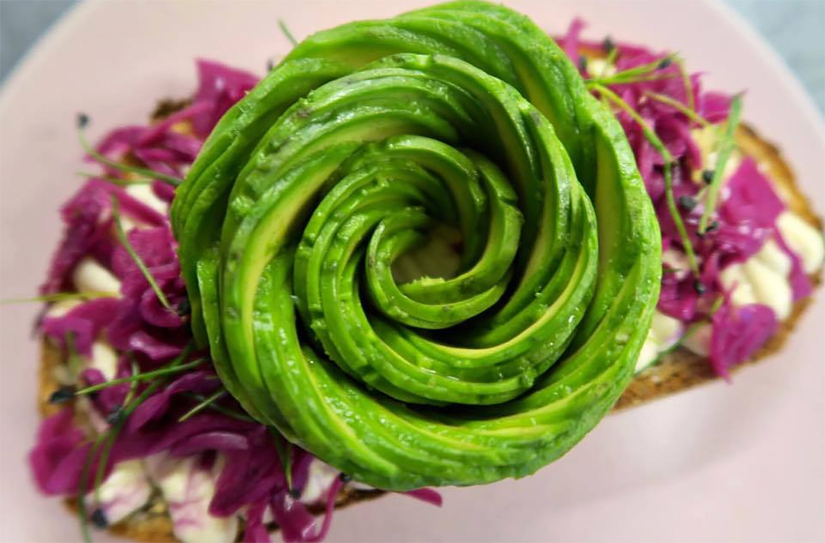 A look at the Avocado Rose dish at The Avocado Show restaurant in Amsterdam.