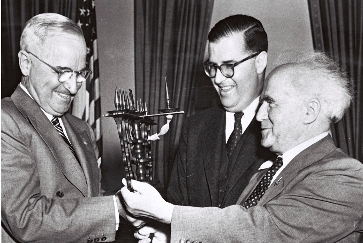 President Richard Nixon with Israeli Foreign Minister Abba Eban in Washington on March 14, 1969.