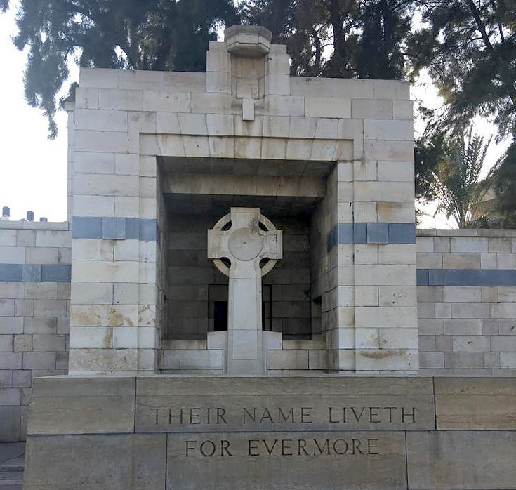 A Commonwealth Military Cemetery.