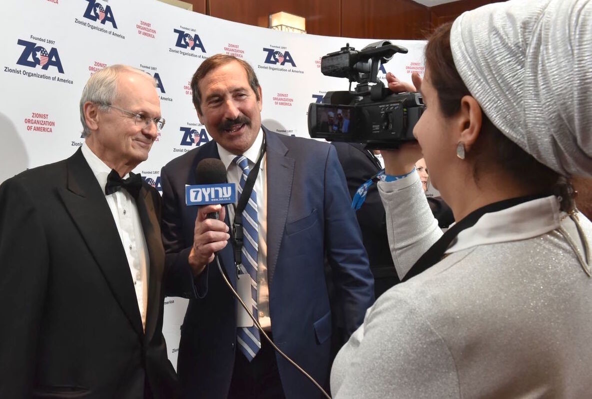 ZOA President Morton Klein with pro-Israel activist Dr. Joe Frager of Jamaica Estates, at the Nov. 4 ZOA gala.