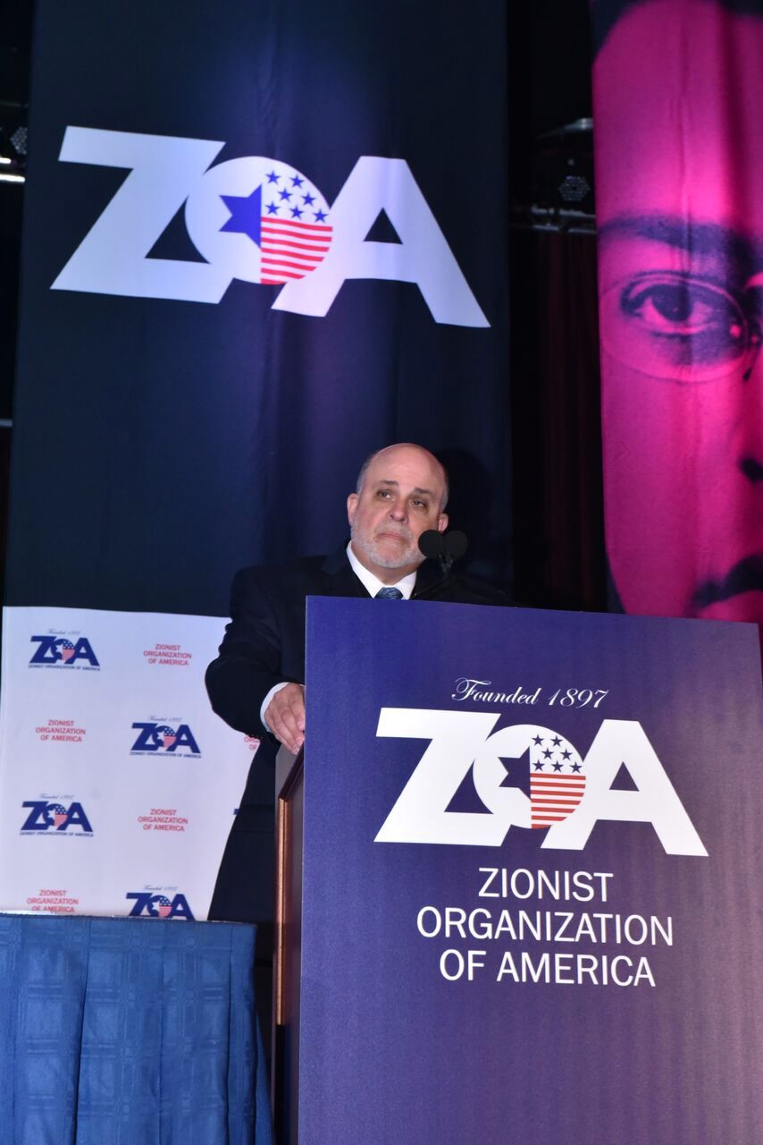 Mark Levin speaks at the Nov. 4 ZOA gala.