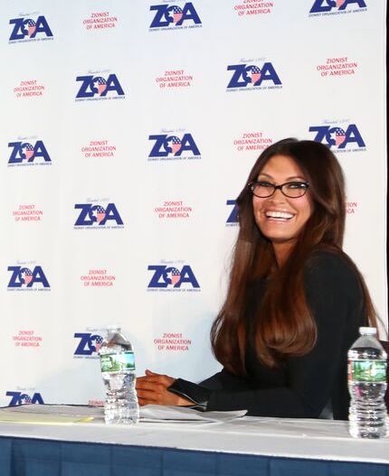 At the Nov. 4 ZOA gala, master of ceremonies Kimberly Guilfoyle.