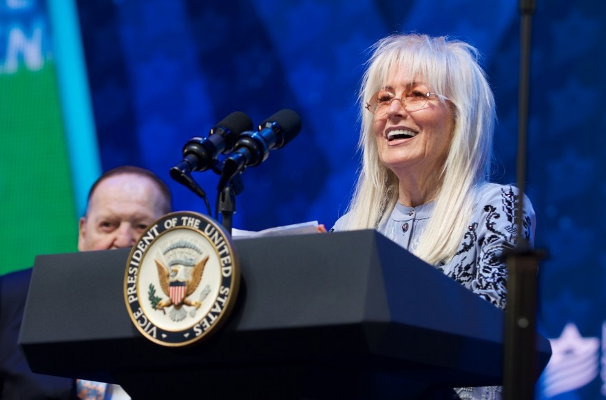 Miriam Adelson speaks at the Israeli-American Council conference on Nov. 30.