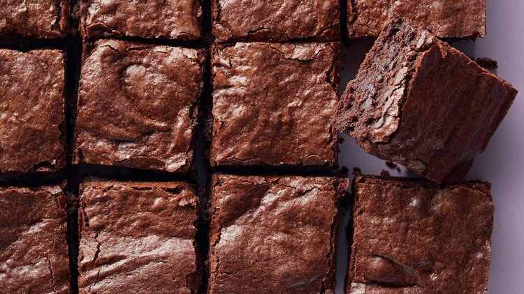 Chewy chocolate brownies
