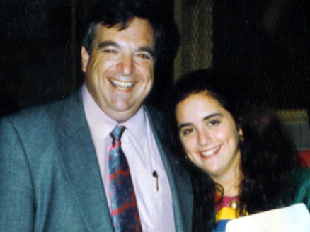 The last photo taken of Stephen M. Flatow with his daughter, Alisa, who was killed along with seven others in a terror attack in Israel in April of 1995.