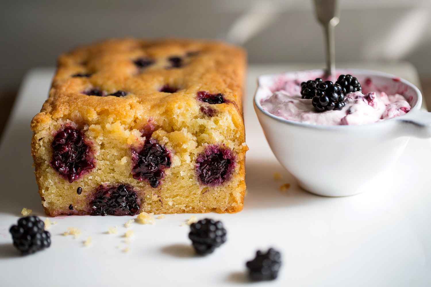 Pomegranate Orange Blackberry Tea Bread
