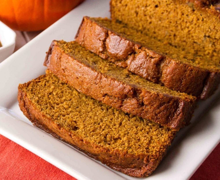 Warm Spicy Pumpkin Bread