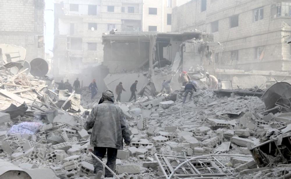 Destruction in eastern Ghouta, Syria.