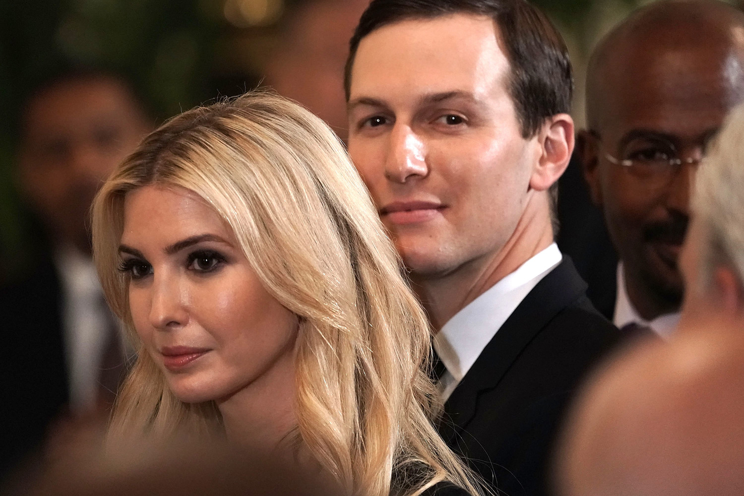 Ivanka Trump and Jared Kushner attend a White House summit, on May 18.