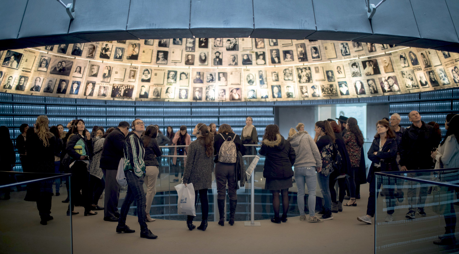 Visitors at the Yad Vashem Holocaust Memorial museum in Jerusalem on April 10, 2018, ahead of Israeli National Holocaust Remembrance Day.