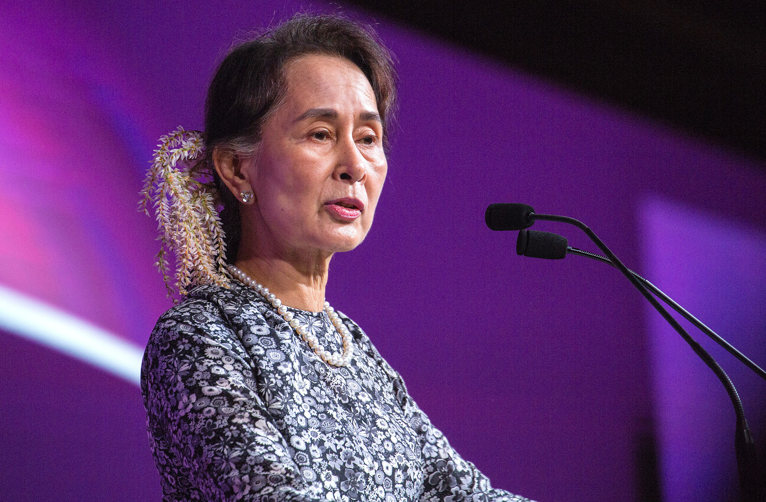 State Counsellor Aung San Suu Kyi, the head of Myanmar's government.