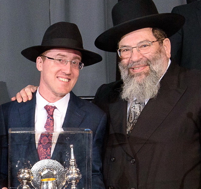 Meir Fried, Parents of the Year awardee, with Rabbi Yaakov Bender.