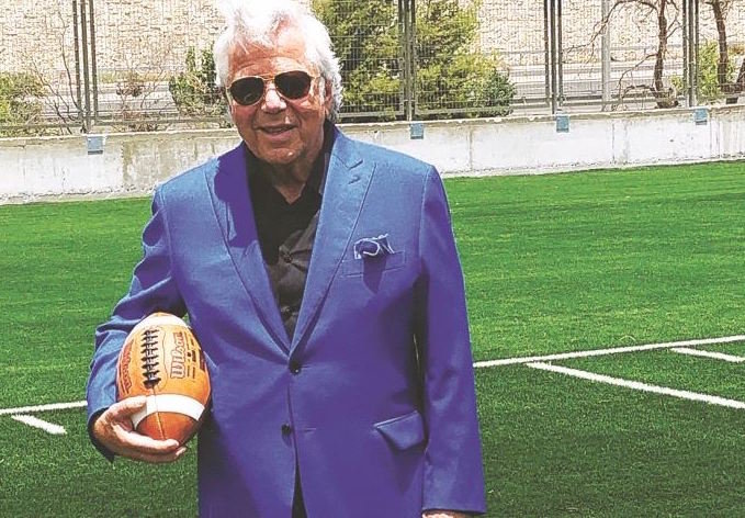 New England Patriots owner Robert Kraft at the Kraft Family Sports Complex in Jersualem.