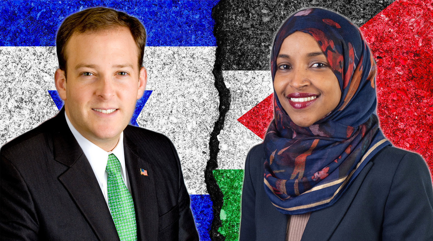 Reps. Lee Zeldin and Ilhan Omar have been feuding on Twitter over Omar's support of BDS.