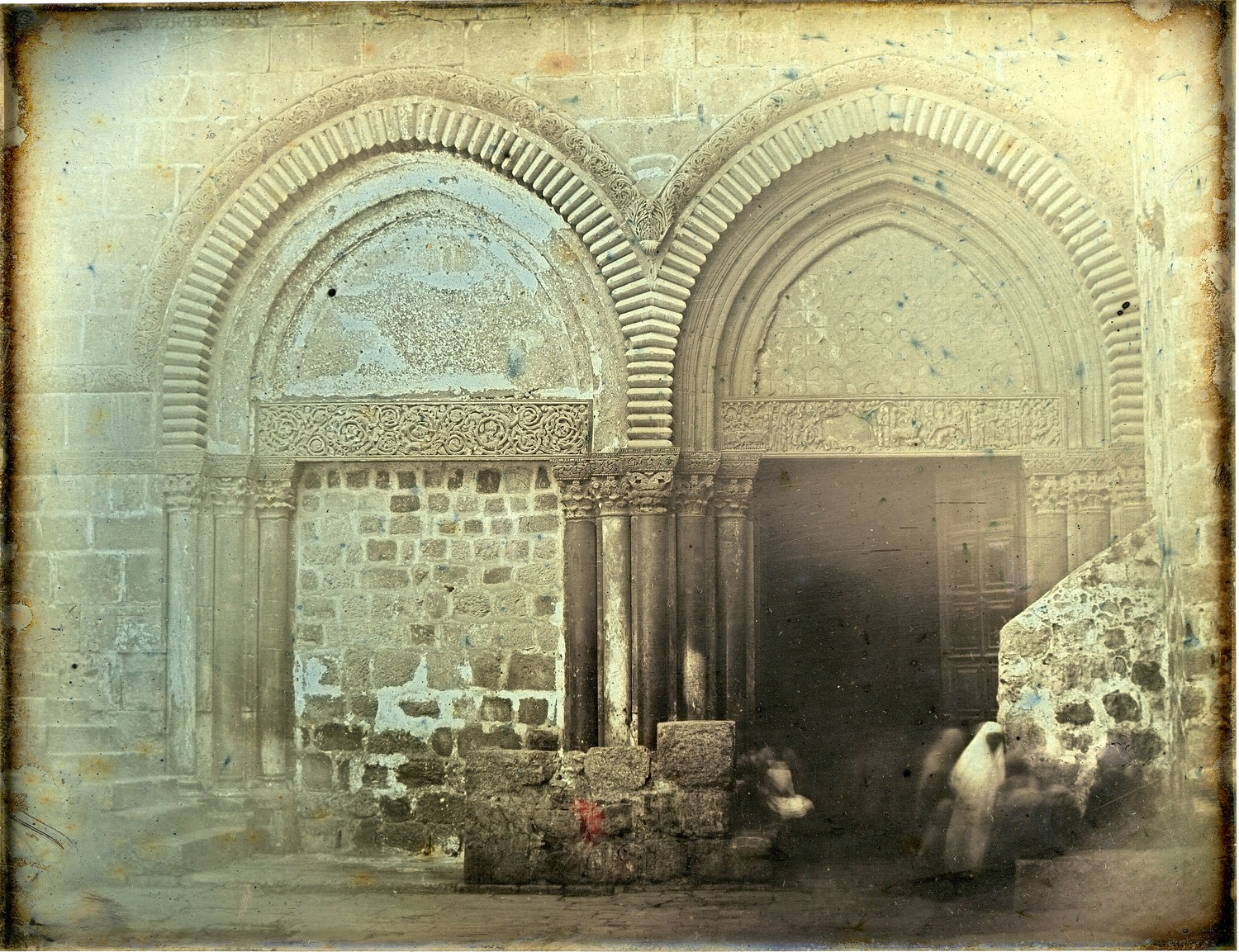 """Portal, Church of the Holy Sepulchre, Jerusalem,"" an 1844 daguerrotype by Girault de Prangey"
