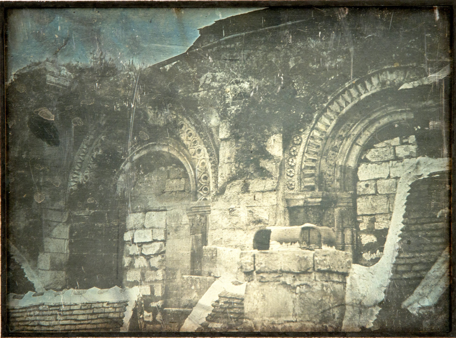 """Untitled (Archaeological scene, Jerusalem),"" a daguerreotype from 1844 by Joseph-Philibert."