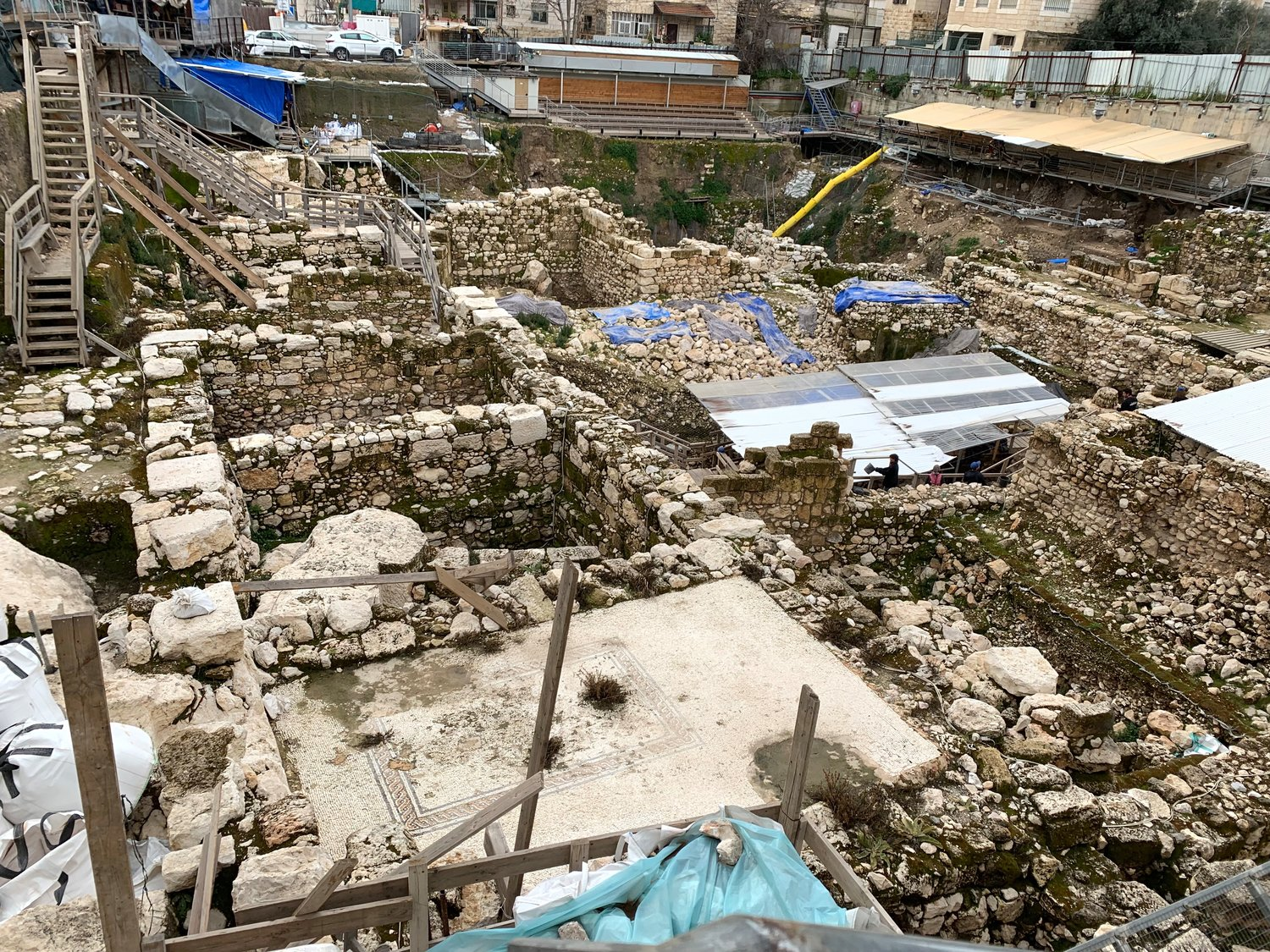 Archaeological excavation underway at the City of David in Jerusalem, March 2019.