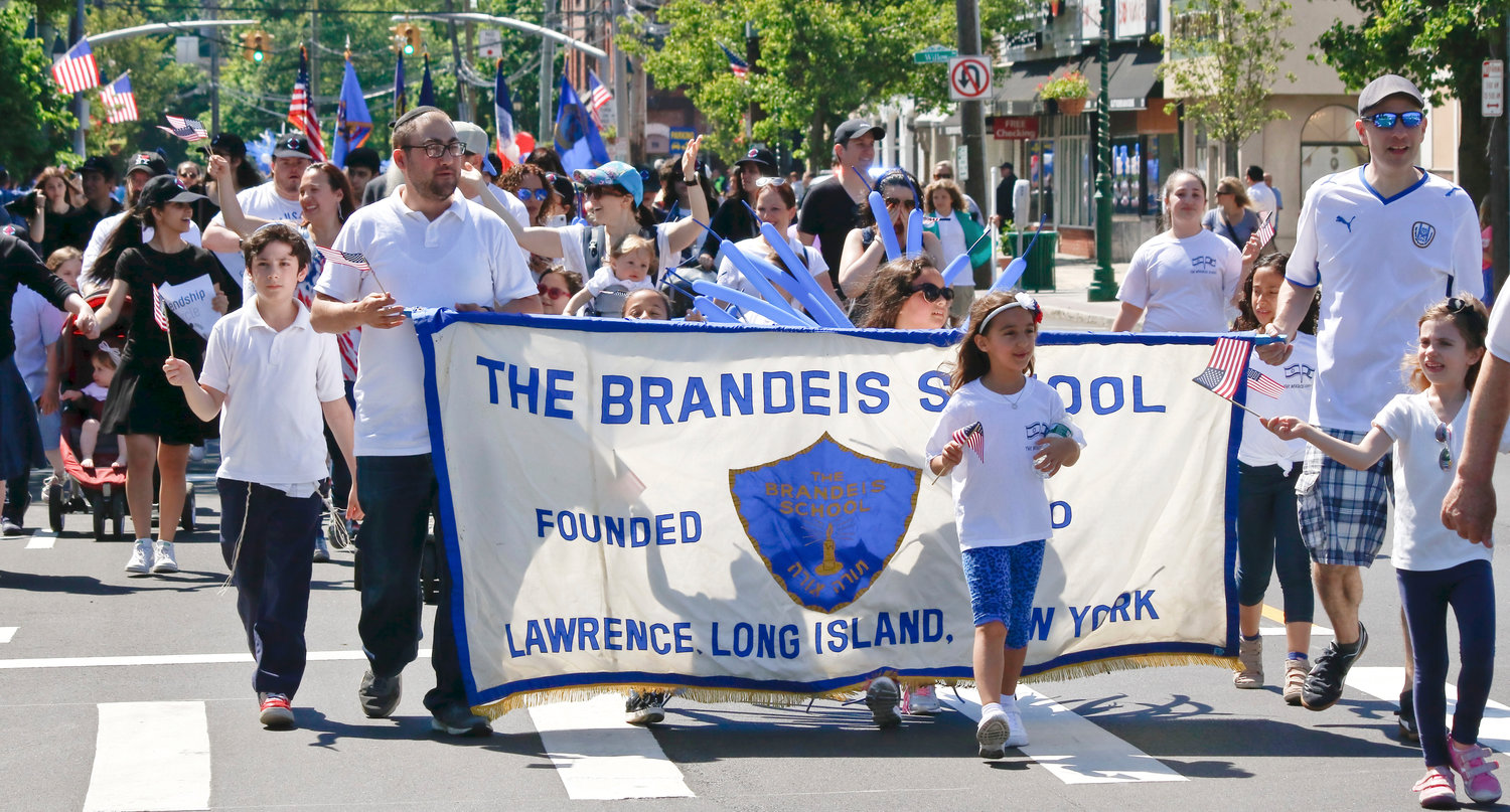 The Brandeis School in Lawrence joined the parade.