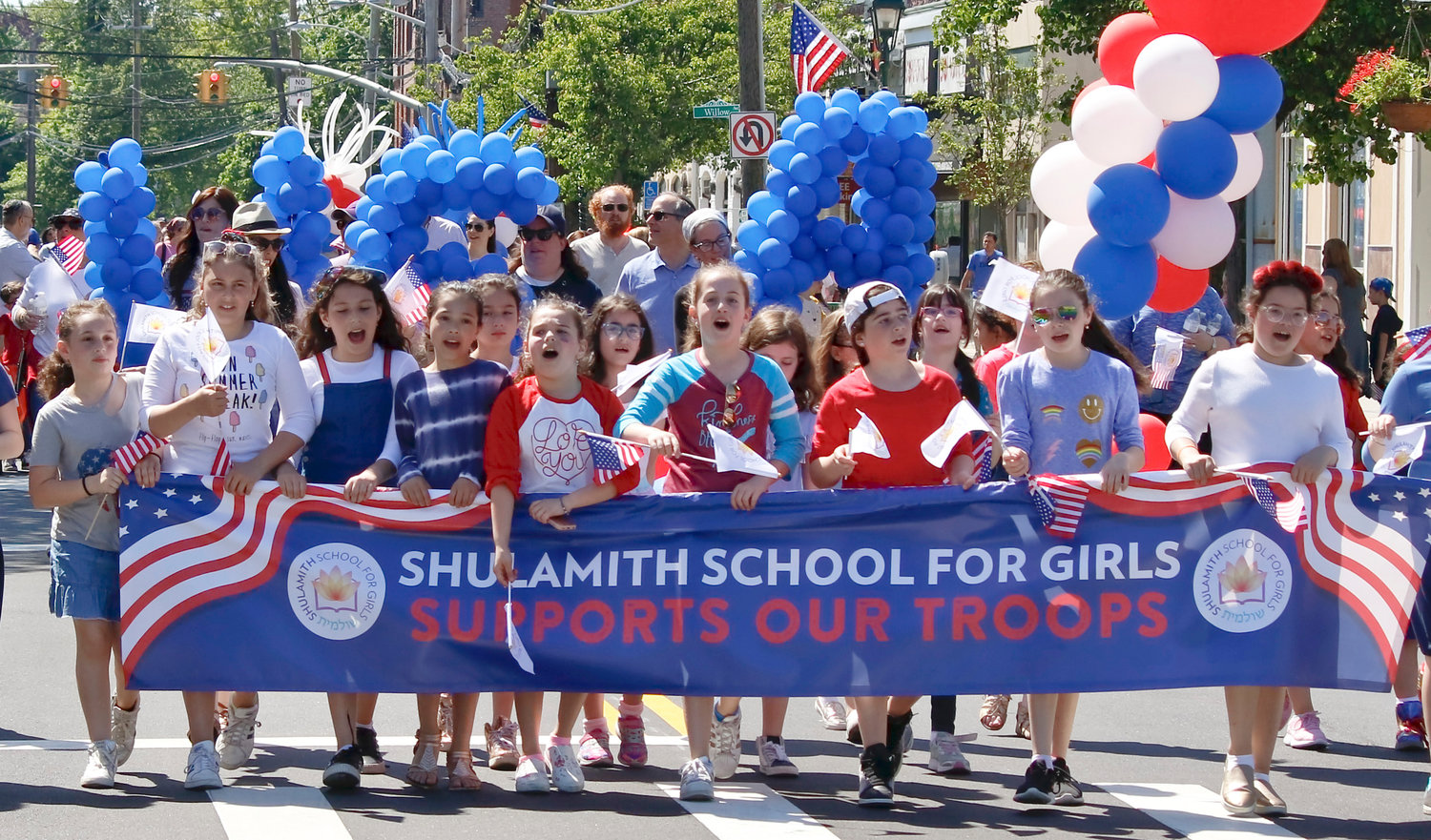 The Shulamith School for Girls in Cedarhurst joined the Lawrence-Cedarhurst Memorial Day Parade on Sunday.