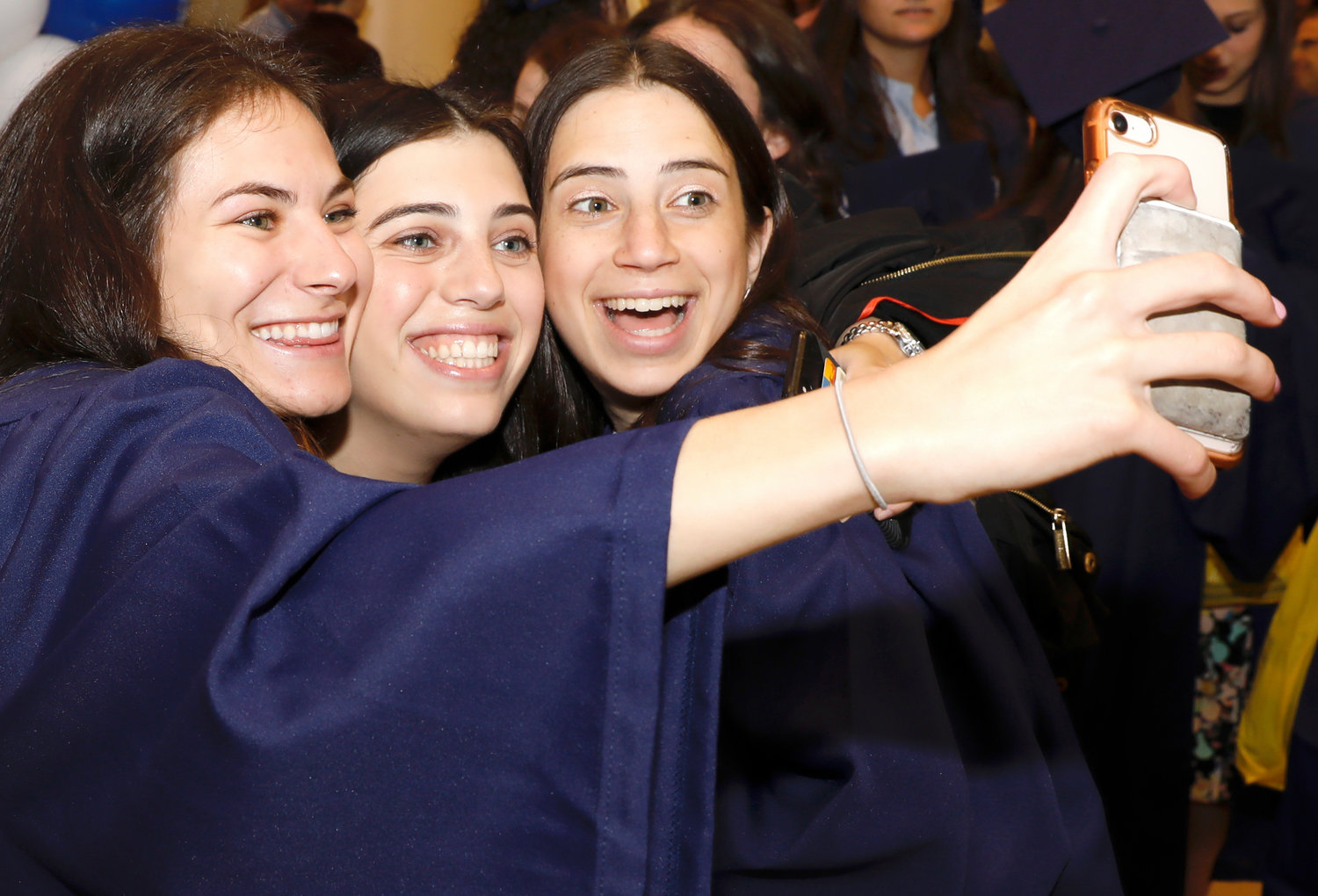 The YU commencement in Madison Square Garden was the occasion for a selfie celebration.