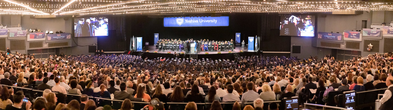 The Yeshiva University commencement exercise at Madison Square Garden on May 30.