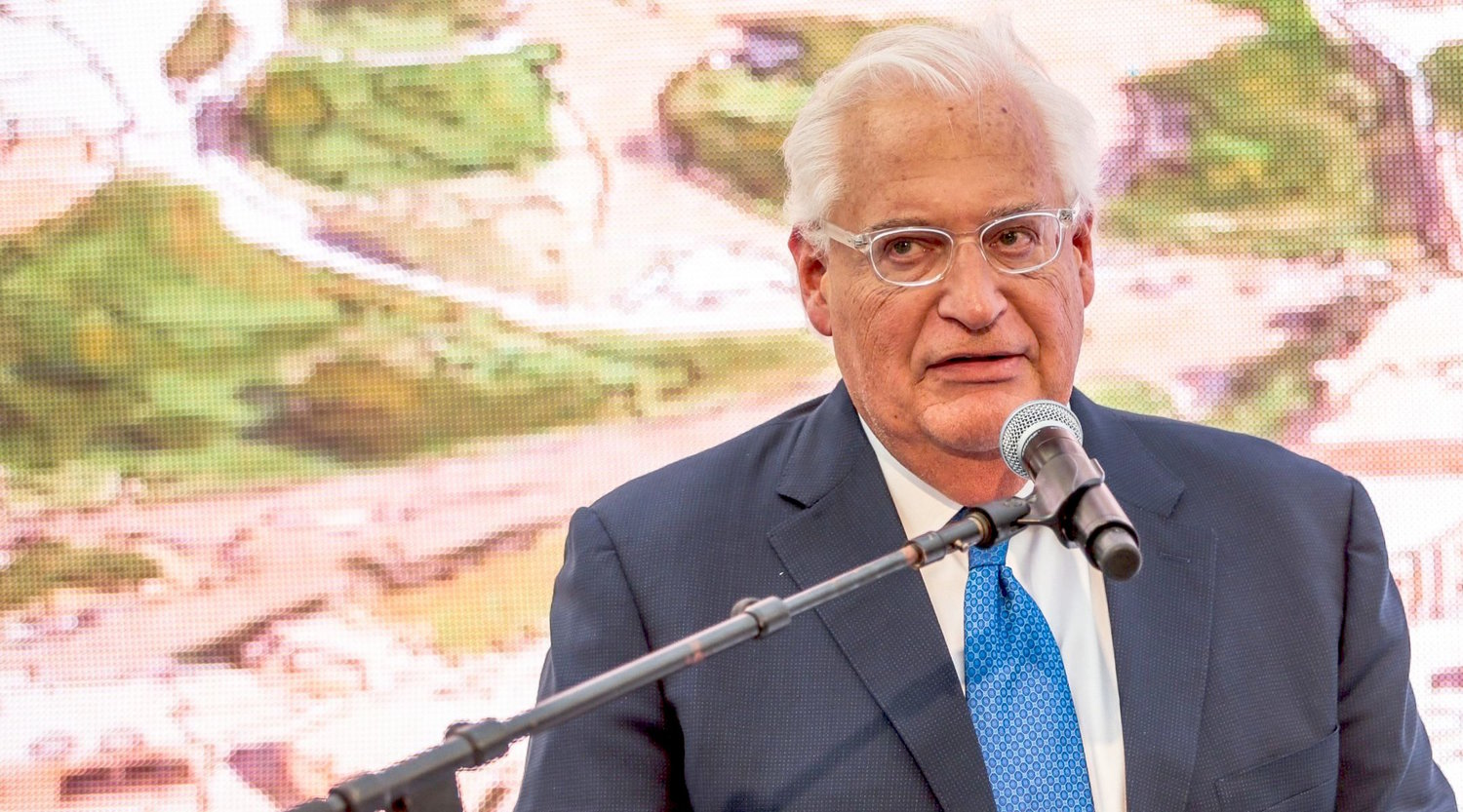U.S. Ambassador to Israel David Friedman at the opening of Pilgrimage Road at the City of David archaeological site in the eastern Jerusalem neighborhood of Silwan on June 30.