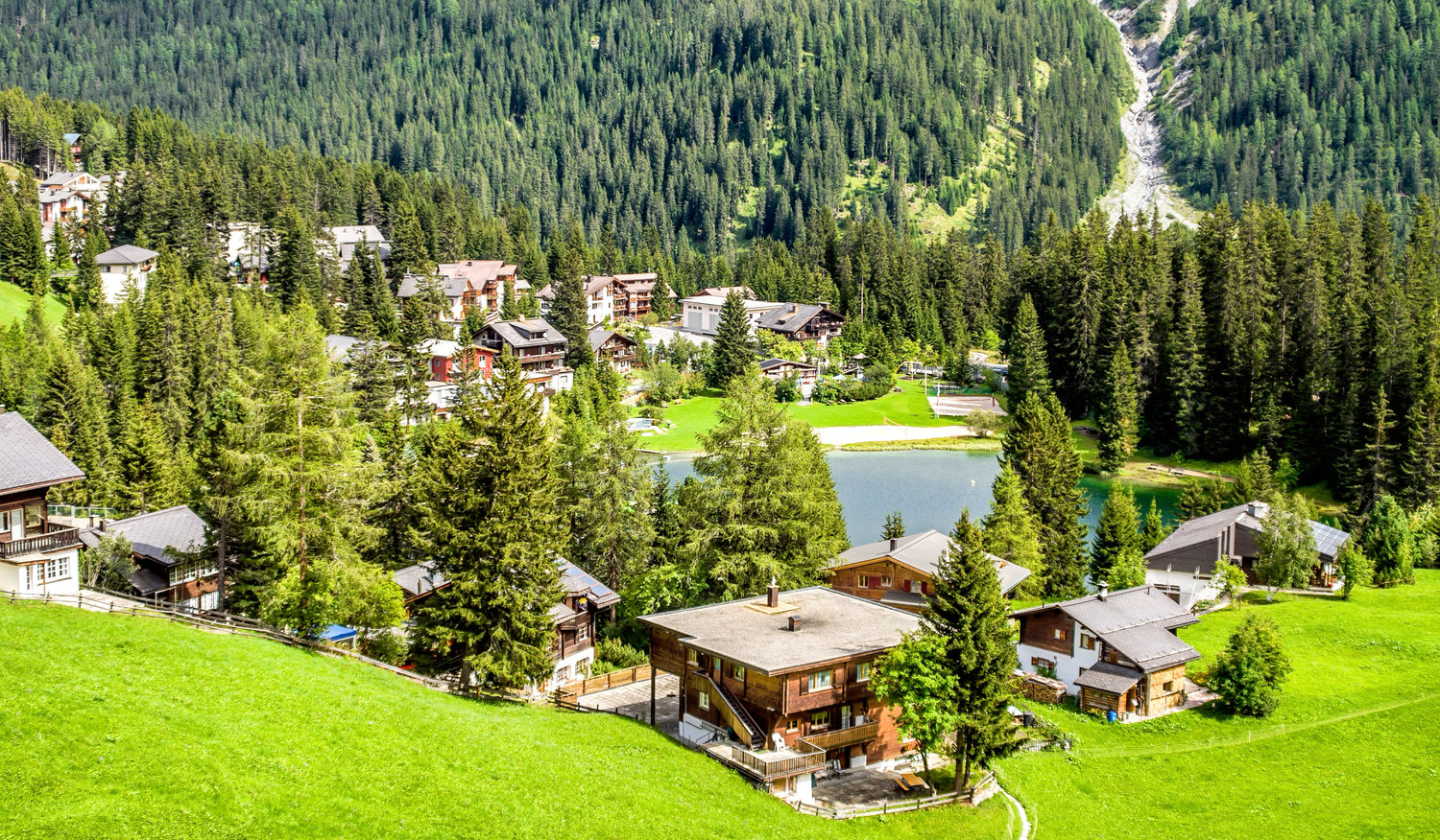Arosa in the summer offers some stunning views