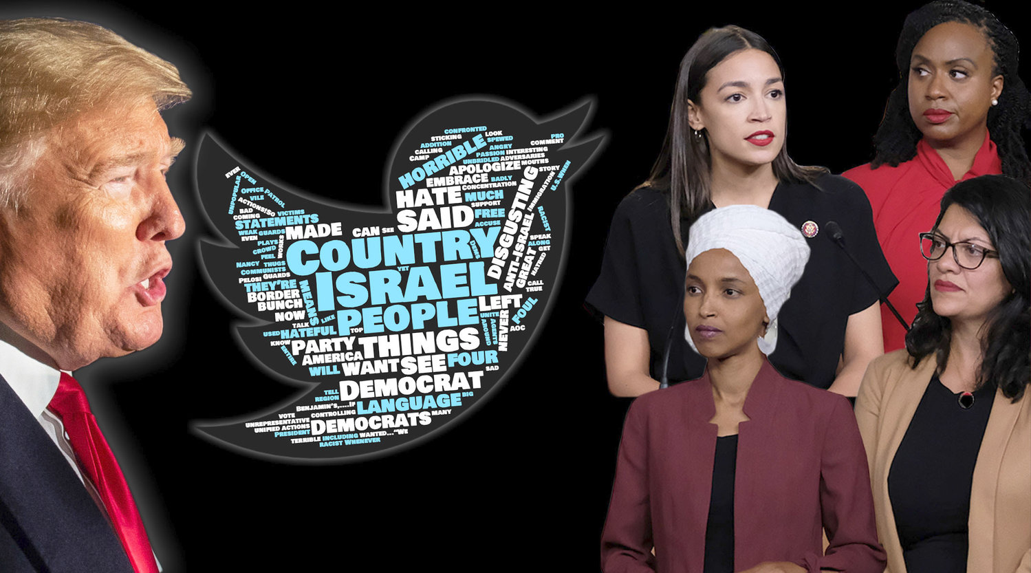 President Trump continues to invoke Israel and the Jews in his attack on four progressive Democrats.