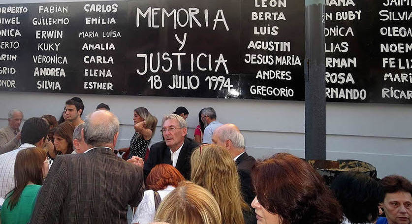 Every year on July 18, thousands gather to remember victims of the AMIA bombing. At one of these events, the names of the 85 who died in the 1994 bombing are listed. More than 300 were injured.