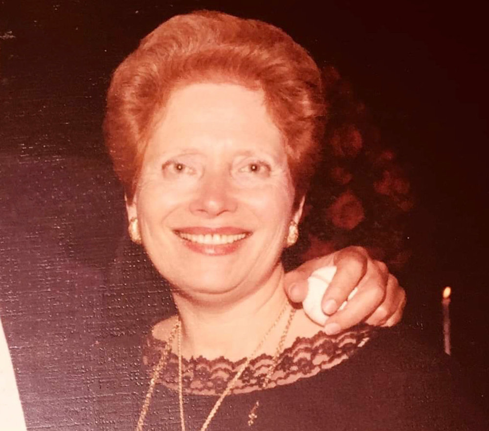 "Rebbetzin Adelaide ""Addi"" Friedman, pictured at a Bat Mitzvah in 1976."