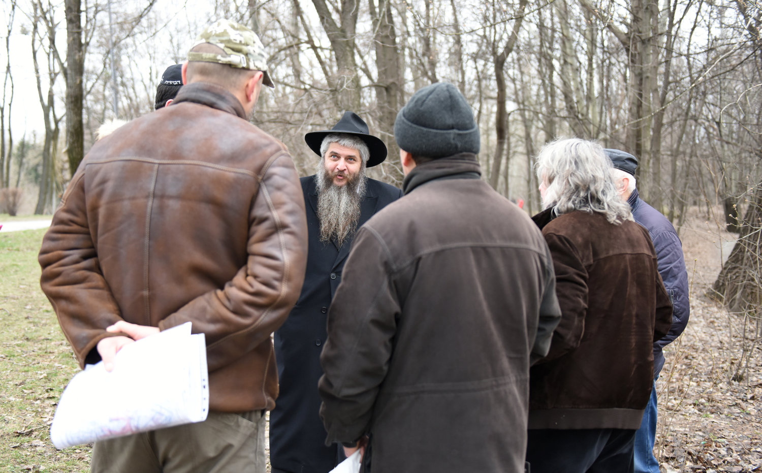 Moshe Azman, a Ukrainian rabbi, discussing with architecht the construction of a Holocaust museum near the Babi Yar monument in Kiev, Ukraine.