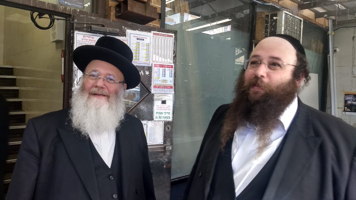Yosef Rapaport, left, and his son Alexander say attacks on Jews are nothing new. Alexander is a Borough Park resident and executive director of the Masbia Soup Kitchen Network.