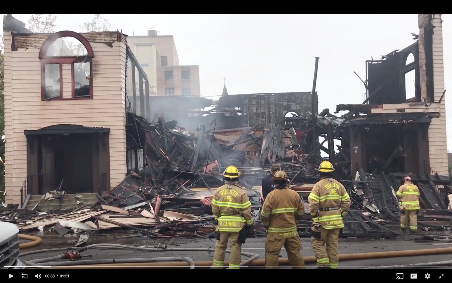 Adas Israel Congregation in Duluth, Minn., burned down of yet unknown causes.