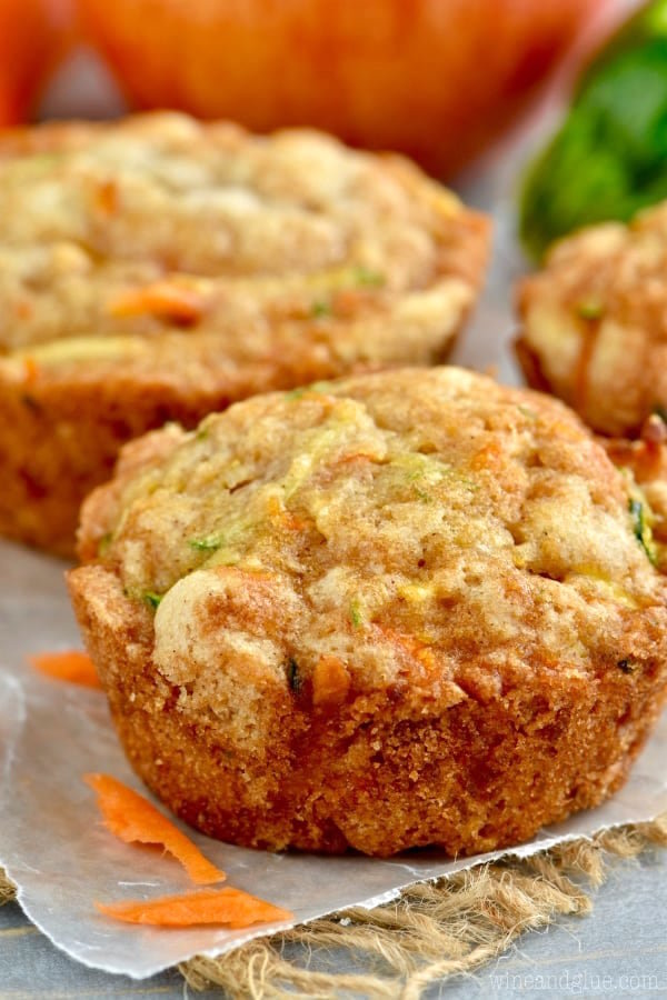 Apple, carrot and zucchini loaf or muffins