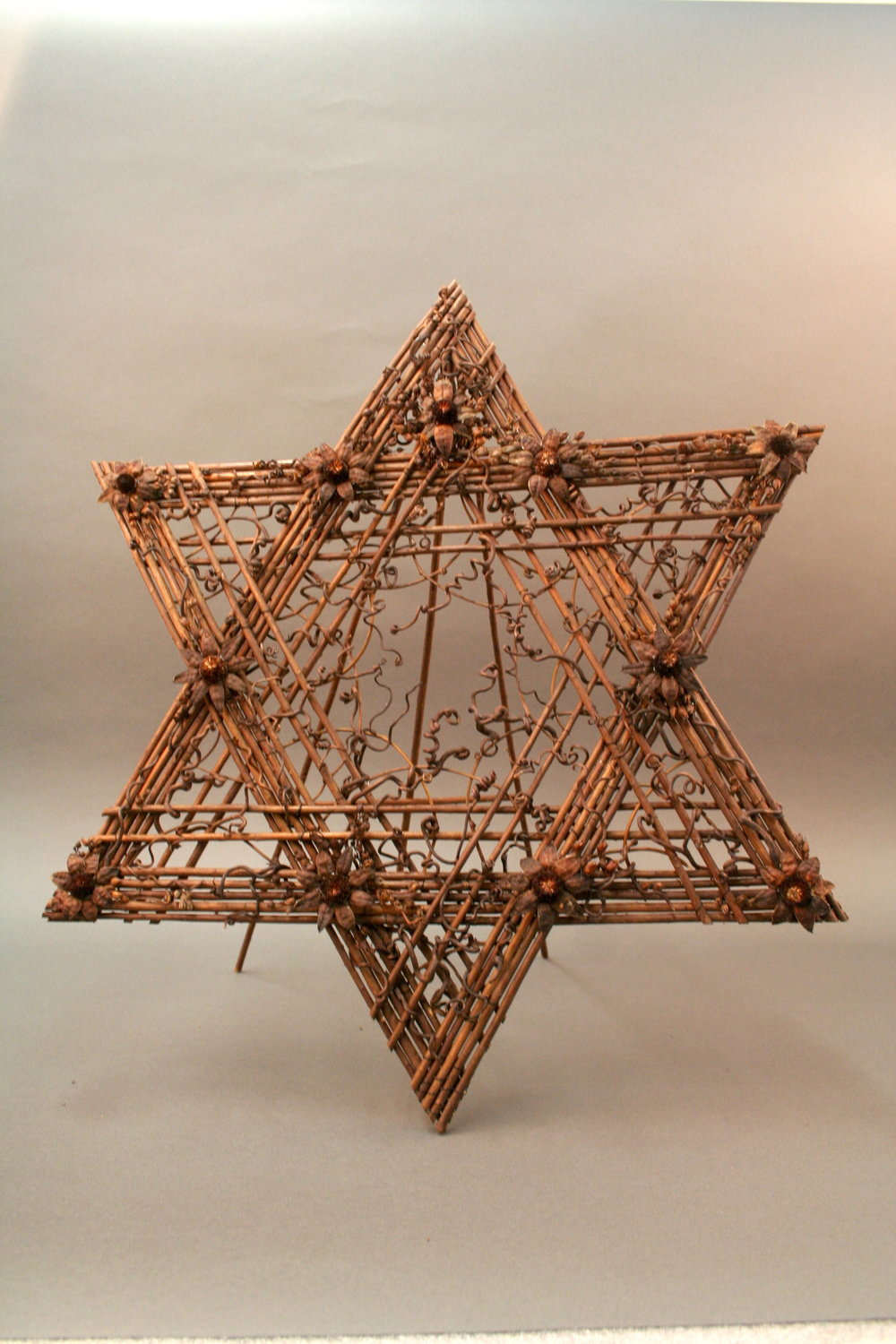 A wicker Jewish star sent in remembrance of the Pittsburgh synagogue shooting.