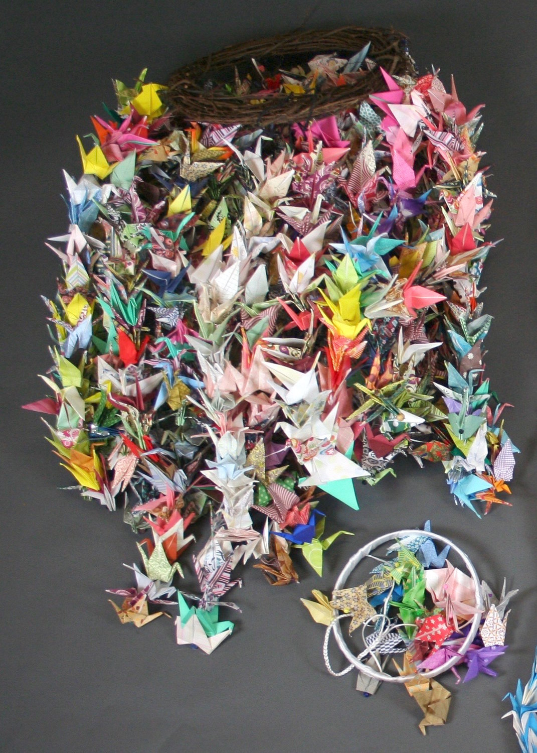 Origami cranes sent in memoriam of the Pittsburgh synagogue shooting.
