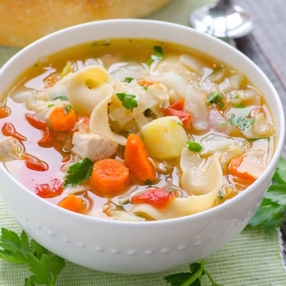 Multi Vegetable Chicken Soup.