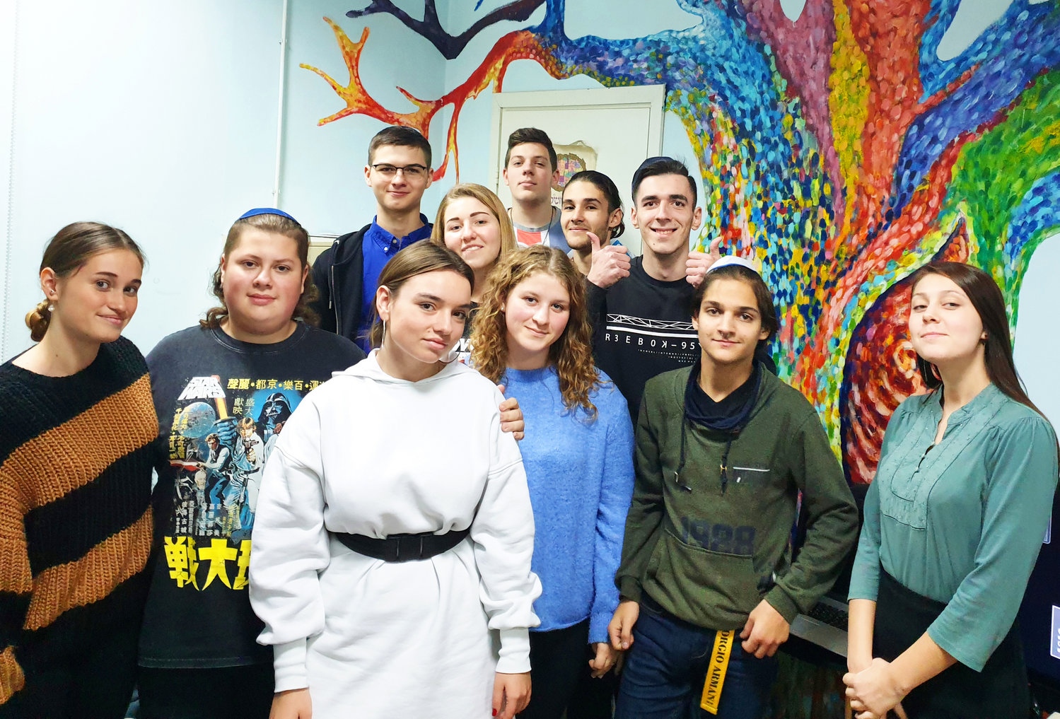 Young Ukrainian Jews at the Beit Grand Jewish Community Center in Odessa on Nov. 1.