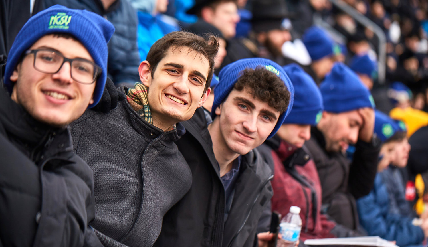 350 secular teens joined 90,000 Jews, overwhelmingly Orthodox, at the Siyum HaShas at MetLife Stadium on Jan. 1.