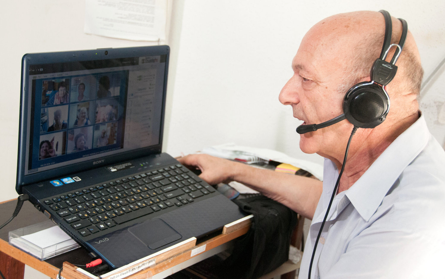 Elderly Israelis, who used videoconference chats during the 2014 Gaza war, are at it again during the coronavirus crisis.