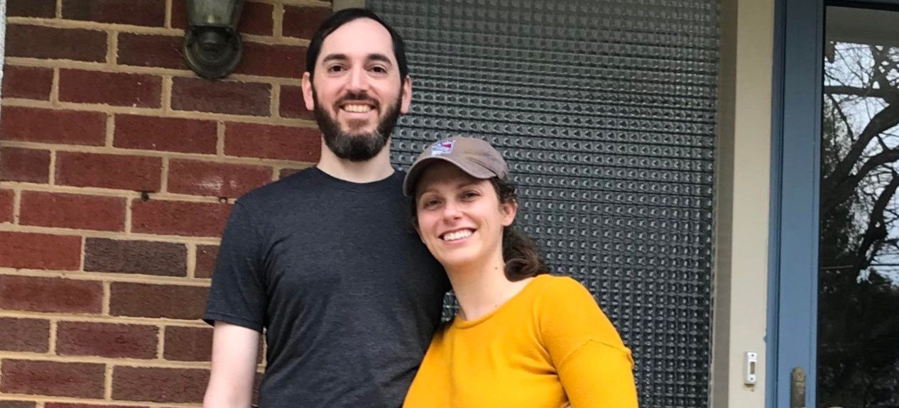 Seth and Bethany Mandel outside their home in this undated photo.