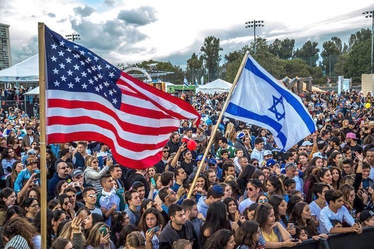 The Israeli-American Council's Celebrate Israel festival in Los Angeles in 2017.