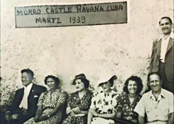 Anna and Lester Bakst are seated far right in this photo taken in 1939 at the fortress.