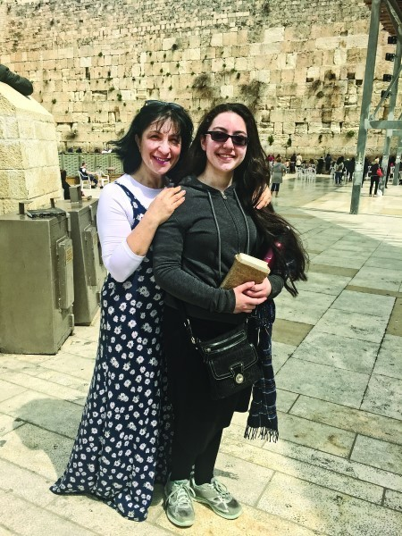 Ethne and Hanna Girard at the Kotel.