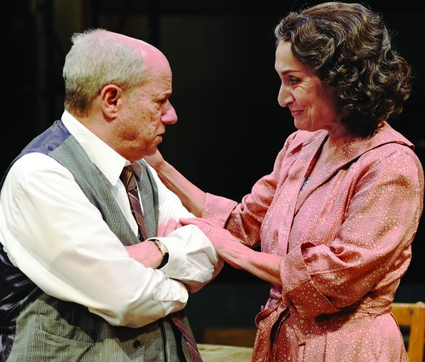 "Stephen Berenson as Willy Loman and Phyllis Kaye   as Linda in ""Death of a Salesman."""